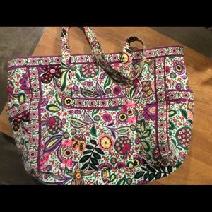Vera Bradley multi color duffel bag